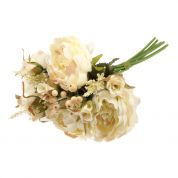 Peony Rose Bouquet  Cream