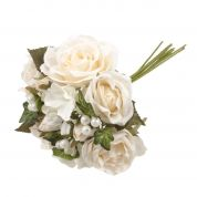 Bouquet Rose with Pearls  White