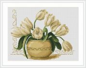 Luca-S Counted Cross Stitch Kit Vase of Tulips