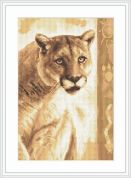 Luca-S Counted Cross Stitch Kit Panther