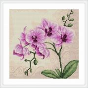Luca-S Counted Cross Stitch Kit Orchid