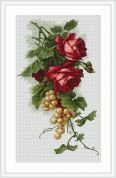 Luca-S Counted Cross Stitch Kit Red Roses & Grapes