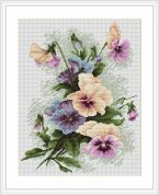 Luca-S Counted Cross Stitch Kit Pansies