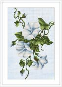 Luca-S Counted Cross Stitch Kit White Bindweed