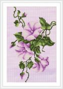 Luca-S Counted Cross Stitch Kit Lilac Bindweed