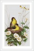 Luca-S Counted Cross Stitch Picture Kit Birds In The Nest