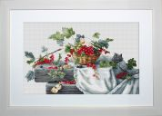 Luca-S Counted Cross Stitch Kit Red Currants II