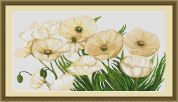 Luca-S Counted Cross Stitch Kit White Poppies I
