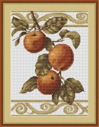 Luca-S Counted Cross Stitch Kit Apples on White