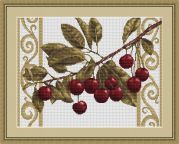 Luca-S Counted Cross Stitch Kit Cherries on White