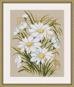 Luca-S Counted Cross Stitch Kit Daisies I