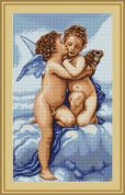 Luca-S Counted Cross Stitch Kit First Kiss
