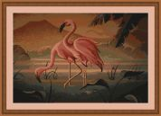 Luca-S Counted Cross Stitch Kit Flamingo Pair