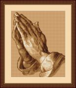 Luca-S Counted Cross Stitch Kit Praying Hands