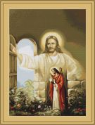 Luca-S Counted Cross Stitch Kit Christ at Hearts Door