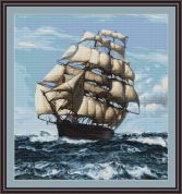 Luca-S Counted Cross Stitch Kit Tall Ship II