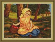 Luca-S Counted Cross Stitch Kit Gathering Windfalls
