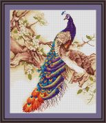 Luca-S Counted Cross Stitch Kit Peacock I
