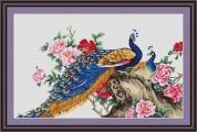 Luca-S Counted Cross Stitch Kit Peacock II