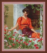 Luca-S Counted Cross Stitch Kit Flowers of Summer