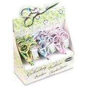 Floral Stork Embroidery Scissors  Assorted Colours