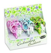 Floral Embroidery Scissors  Assorted Colours