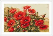 Luca-S Counted Cross Stitch Kit Field Poppies