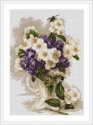 Luca-S Counted Cross Stitch Kit Vase With Jasmine