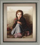 Luca-S Counted Cross Stitch Kit Little Flower Girl