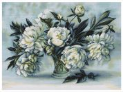 Luca-S Counted Cross Stitch Kit Peonies