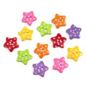 Impex Dotty Stars Novelty Buttons
