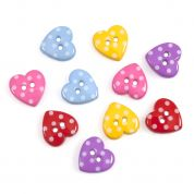 Impex Dotty Hearts Novelty Buttons