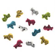 Impex Zebras Novelty Buttons
