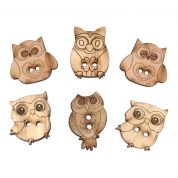 Impex Owls Wooden Buttons