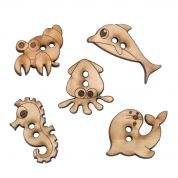 Impex Sea Life Wooden Buttons
