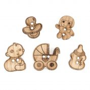Impex Baby Wooden Buttons
