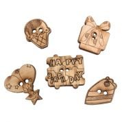 Impex Birthday Wooden Buttons