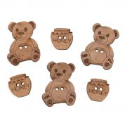 Impex Teddy Bears Wooden Buttons