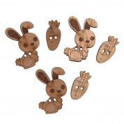 Impex Bunnies Wooden Buttons