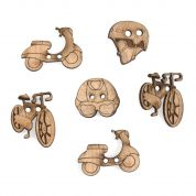 Impex Transport Wooden Buttons