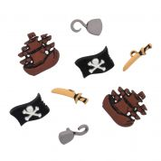 Impex Pirates Novelty Buttons
