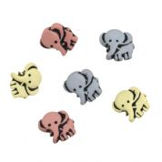 Impex Elephants Novelty Buttons