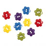 Impex 6 Petal Flowers Novelty Buttons