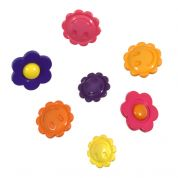 Impex Smiley Flowers Novelty Buttons