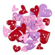 Impex Hearts Novelty Buttons