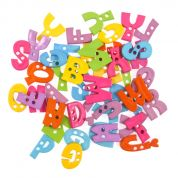 Impex Bright Alphabet Novelty Buttons