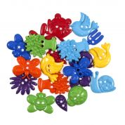 Impex Rainbow Garden Novelty Buttons