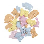 Impex Pastel Safari Novelty Buttons