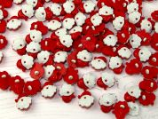 Plastic Christmas Santas Head Shape Novelty Buttons
