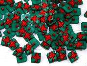 Plastic Christmas Present Shape Novelty Buttons